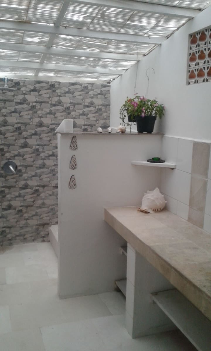 Bathroom with Western toilets and hot shower