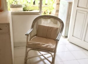 Bamboo armchair, perfect place to reading book